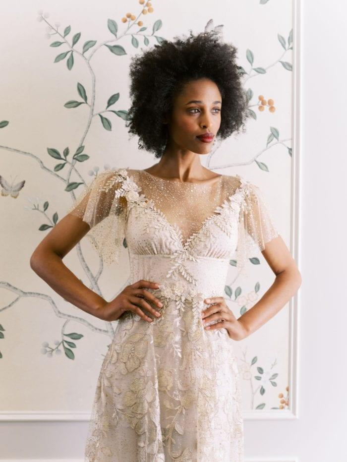 Sparkly romantic wedding dress