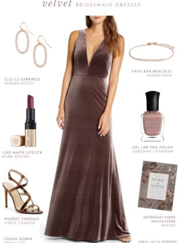 Velvet Bridesmaid Dress