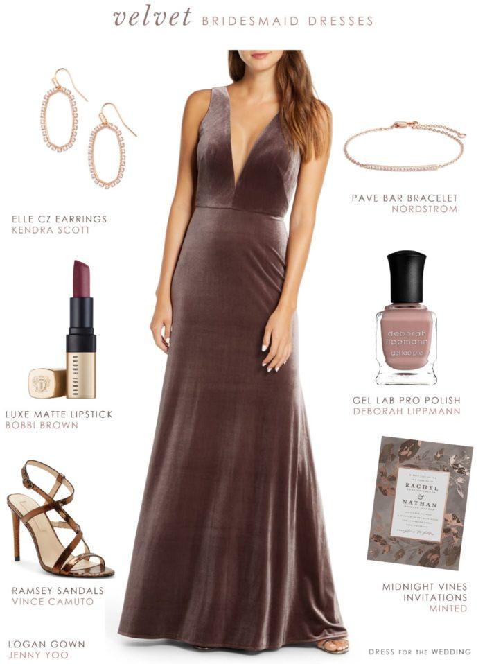 Velvet Bridesmaid Dress