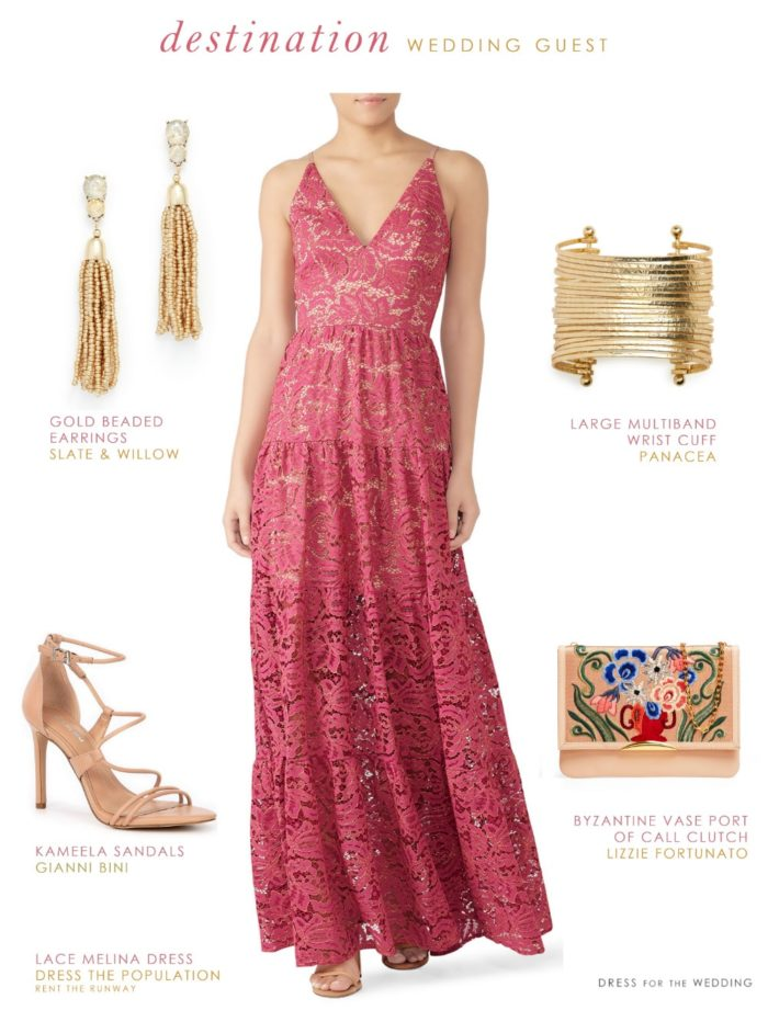 Wedding guest dresses for destination weddings