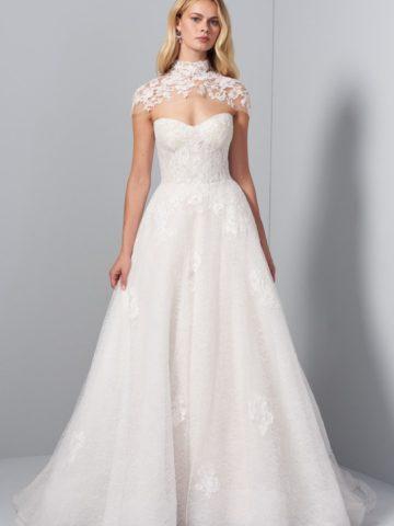 Lace topper cape for Sutton gown
