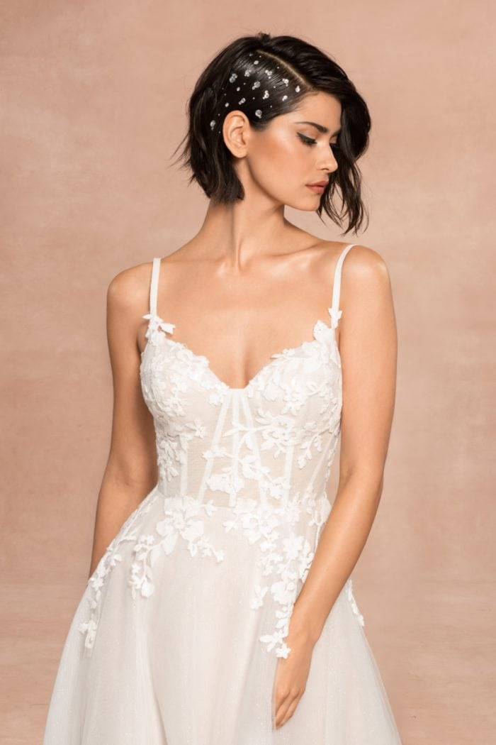Isla spaghetti strap bridal gown Blush by Hayley Page