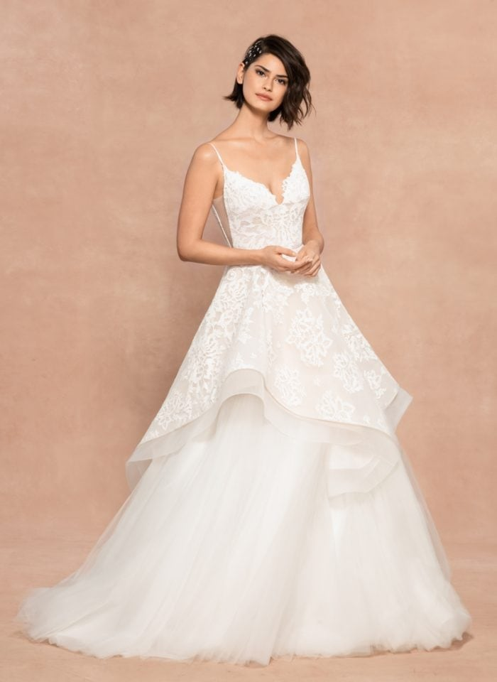 Two piece wedding dress Dixie Blush Hayley Paige