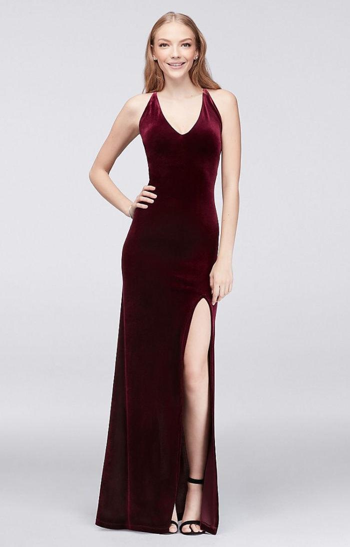 Red velvet dresses for bridesmaids