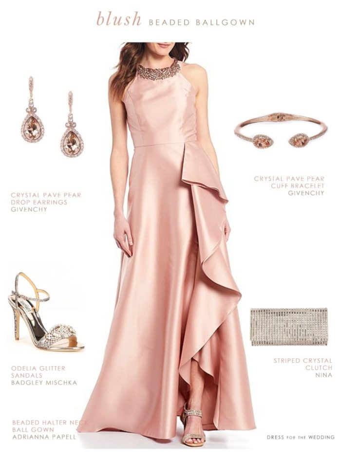 Blush Pink Gown for a Wedding