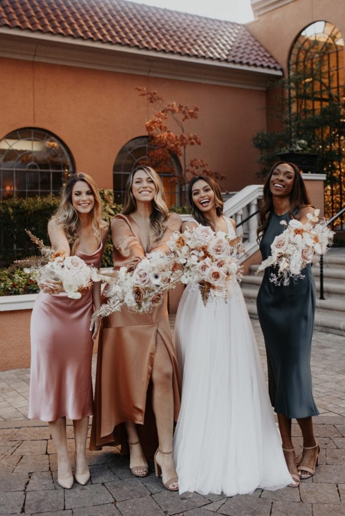 Mix and match colors for bridesmaid dresses 2020