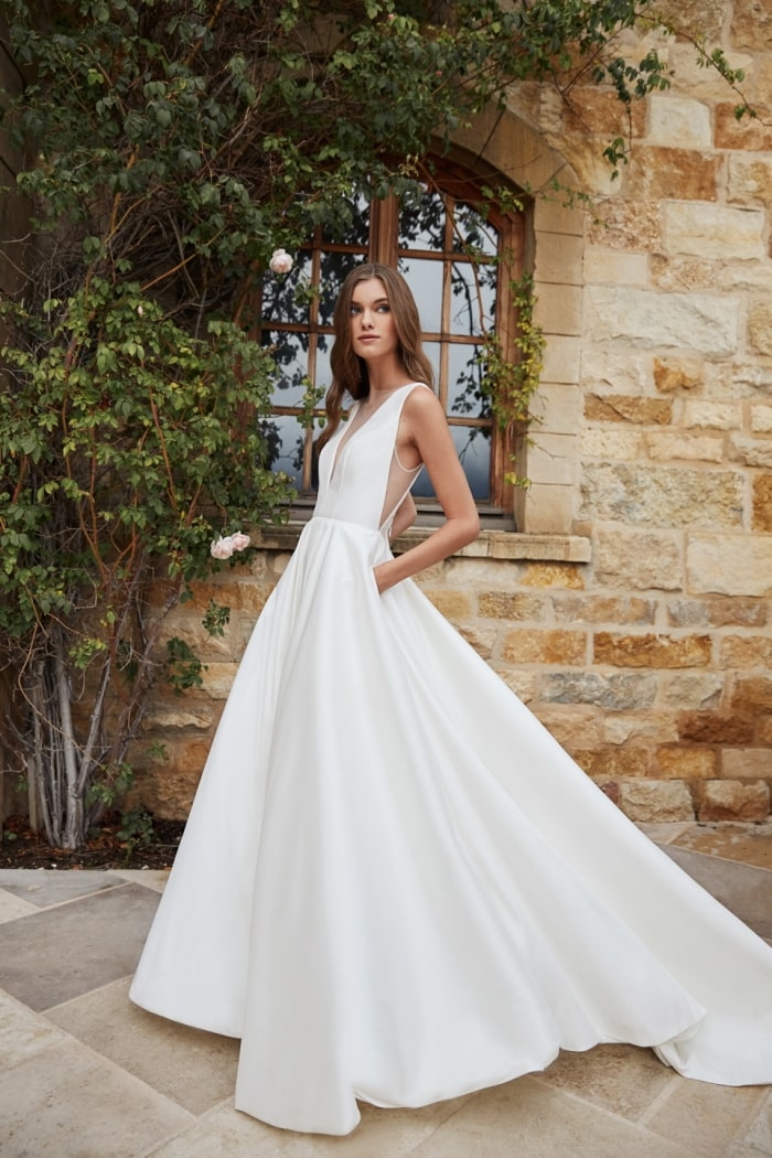 Ballgown wedding dress with pockets