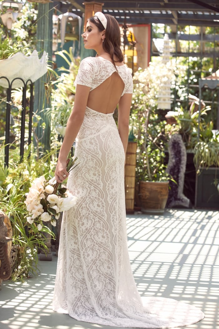 Keyhole back Yvie Wtoo Wedding Dresses Spring 2020