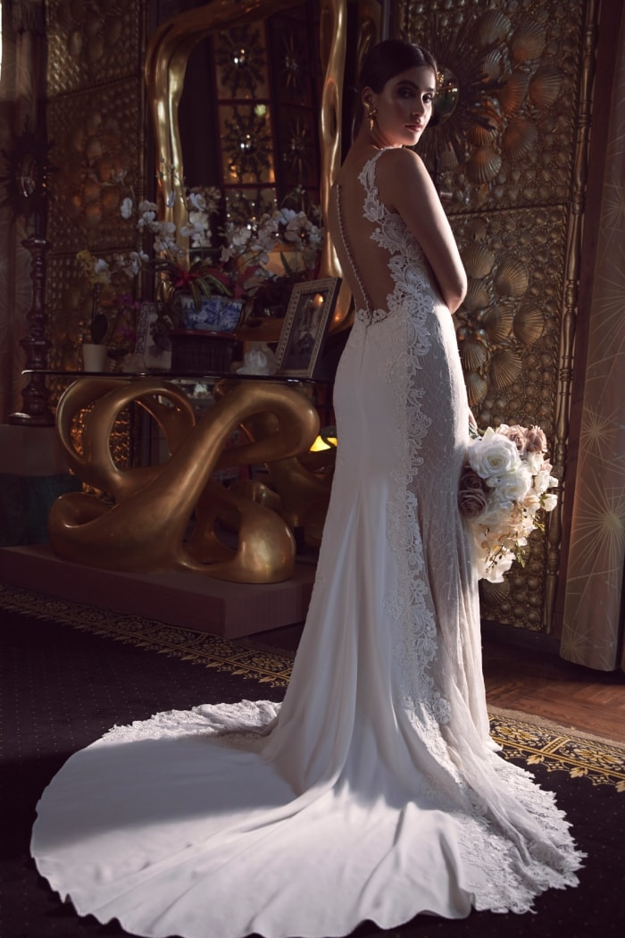 Gillespie Wtoo Wedding Dress Back Details