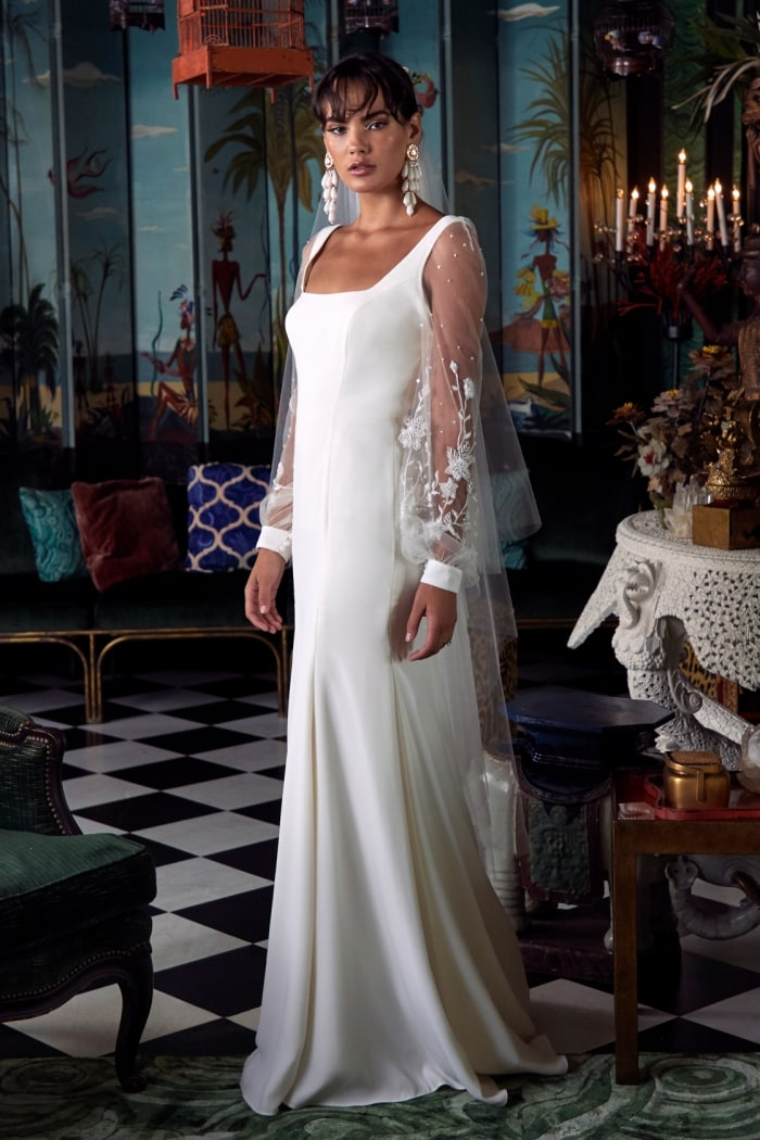 Hampton Square neck long sleeve Wtoo Wedding Dresses Spring 2020