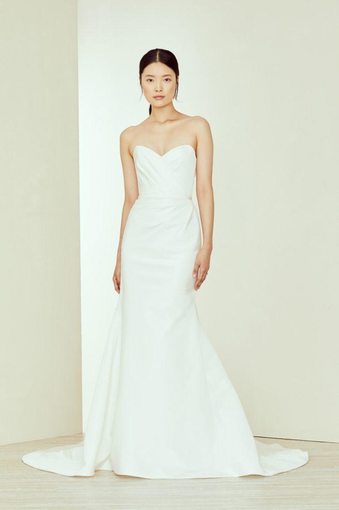 Strapless Amsale Wedding Dress