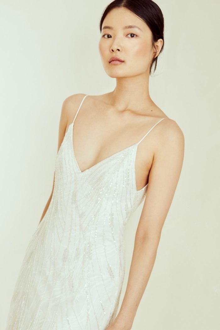 Slip dress wedding dress by Amsale
