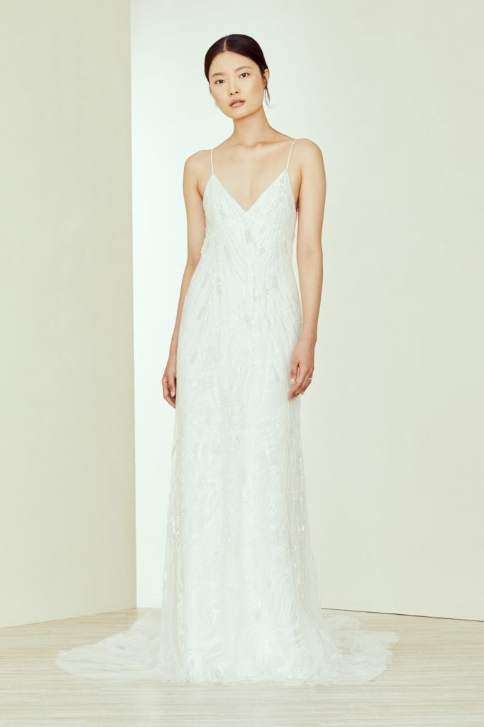 Nemi spaghetti strap wedding gown by Amsale