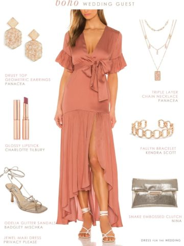 Wedding guest dresses for boho weddings
