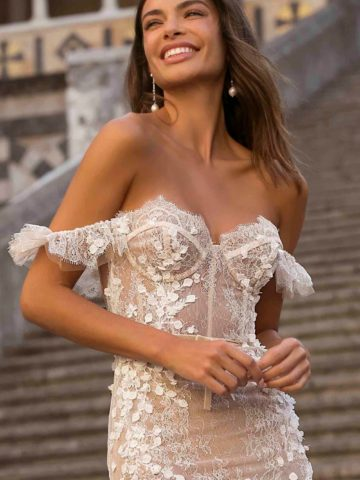 Sheer corset bridal gown