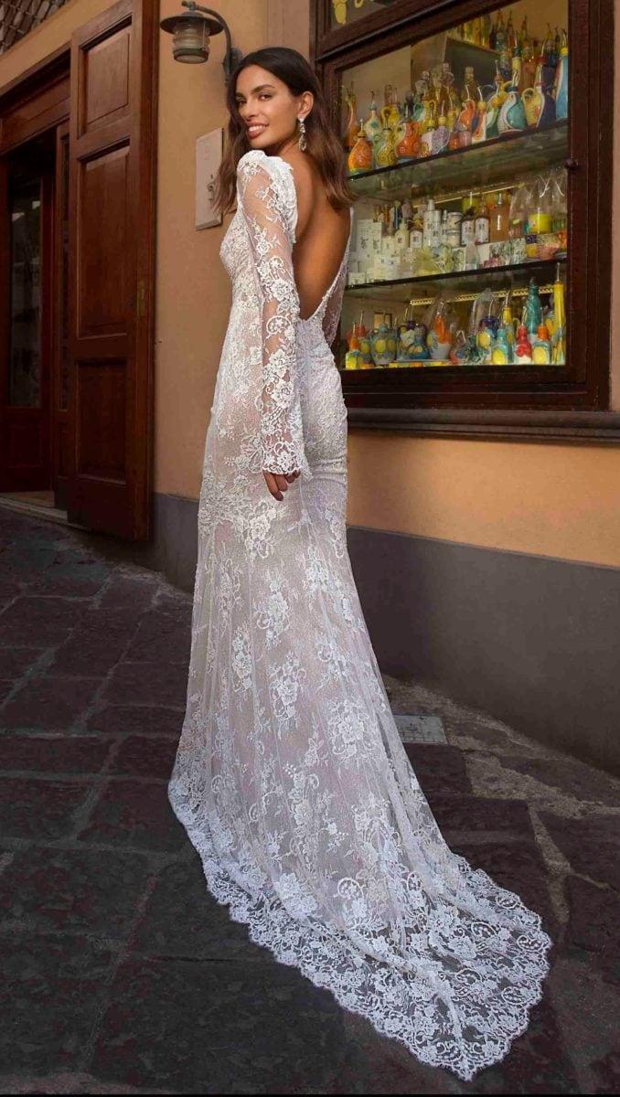 Lace designer bridal gown