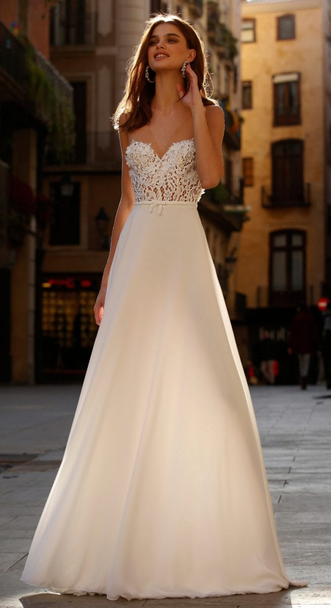 Strapless jolie bridal gown