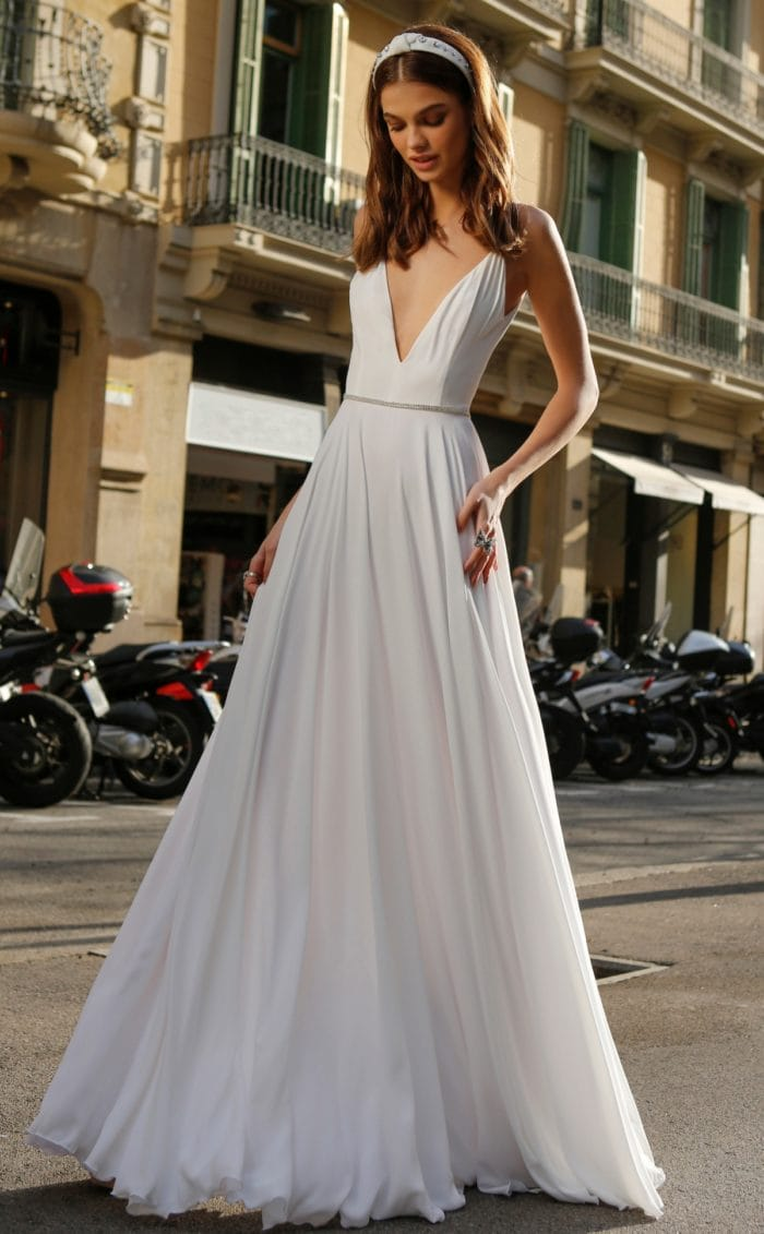 V neck bridal gown | Affordable bridal gown | jolie bridal
