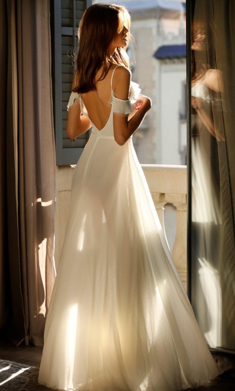 Cold shoulder bridal gown Jolie Bridal