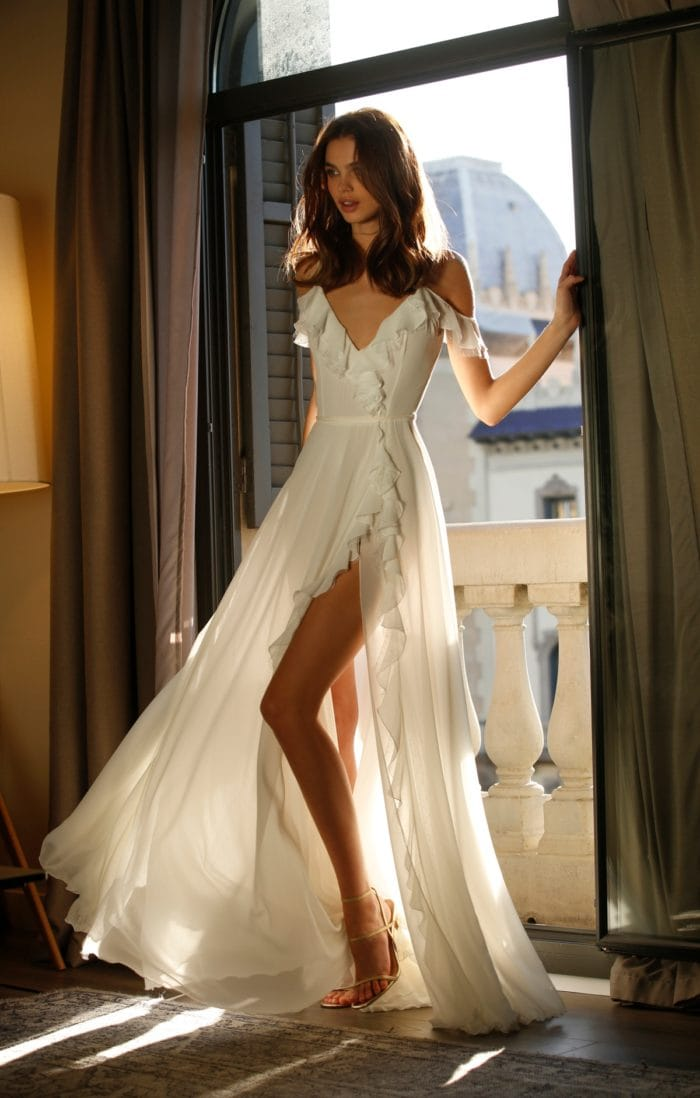 Jolie Ruffled Bridal Gown