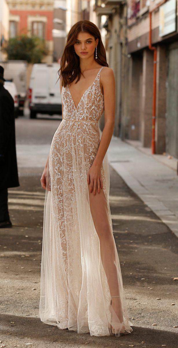 Jolie Bridal Gown with Leg Slit