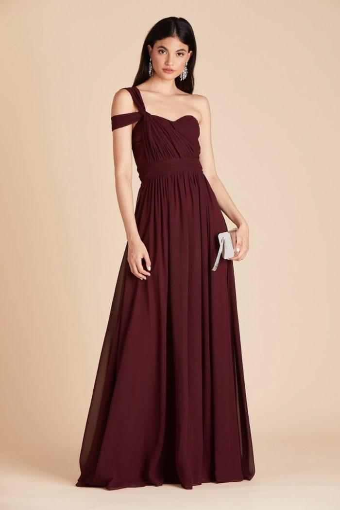 Cabernet dress for a wedding