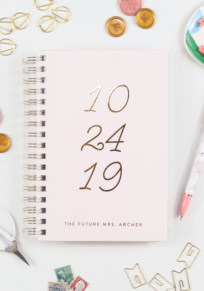 Custom wedding planning notebook