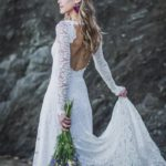 Long sleeve wedding dress from Etsy online