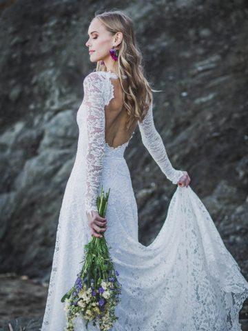 Long sleeve wedding dress from Etsy online