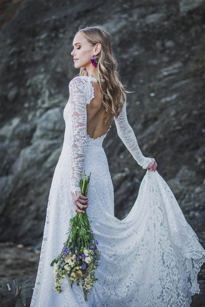 Long sleeve wedding dress from Etsy | Dress for The Wedding