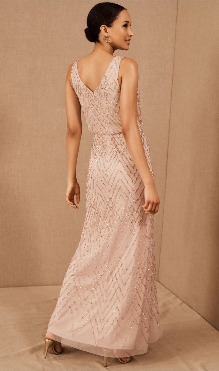 Pink Mother of the Bride Dress with Beading