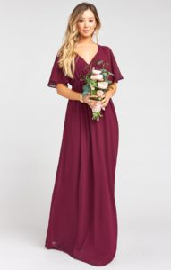 red and burgundy bridesmaid dresses online