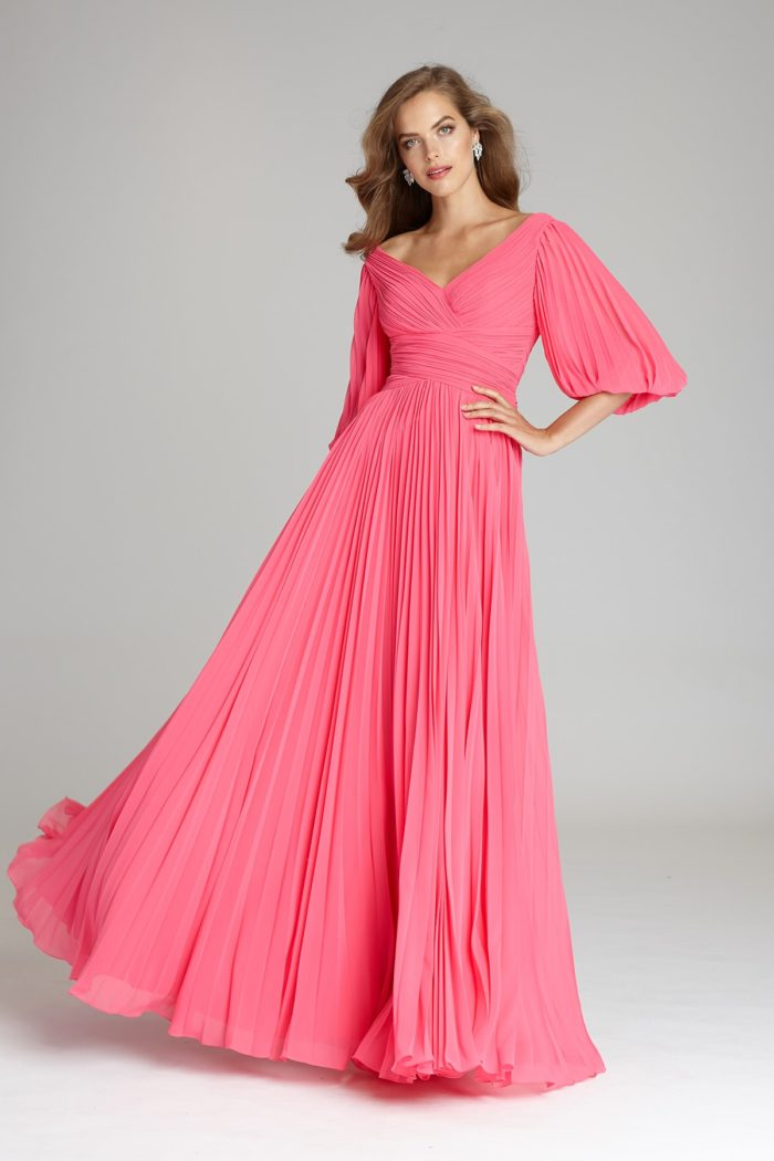 Coral Gown for Mother of the Bride or Groom