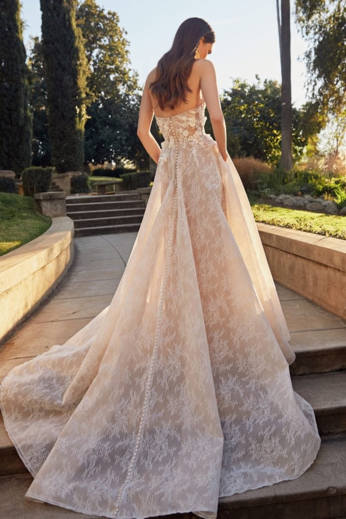 Chantilly Lace Strapless Ballgown