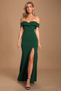 Drak green gown under 100