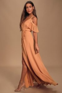 Terracotta peach maxi dress under 100
