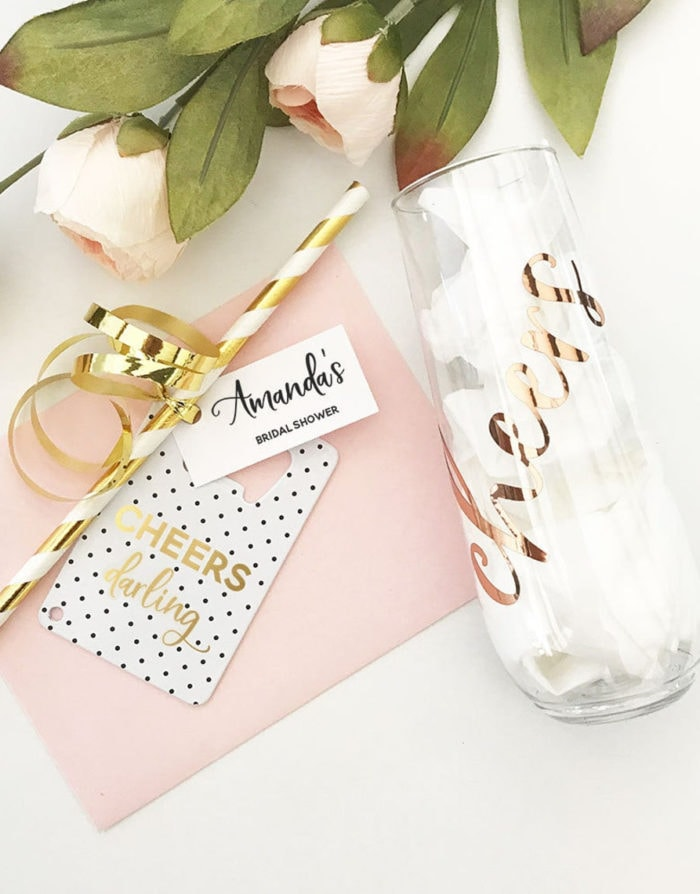 Cups and supplies for bridal showers