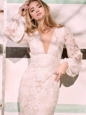 Willowby Long Sleeved Boho Wedding Dress