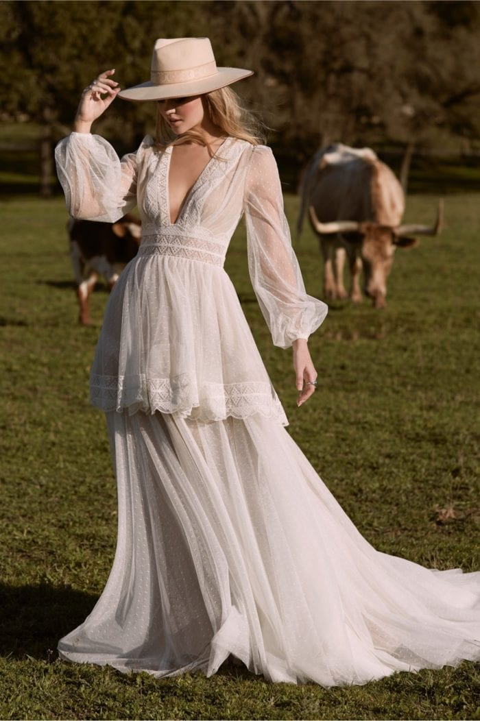 Mesilla Long Sleeve Wedding Dress