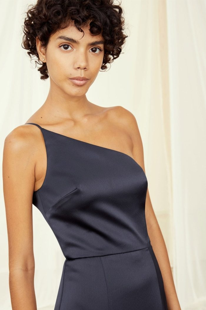 Kaia Amsale bridesmaid dress in Navy blue