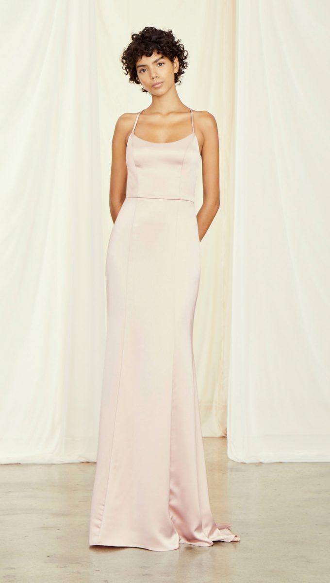 Racerback bridesmaid dress | Everly Amsale