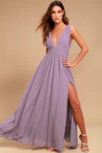 Lavender Plunge V Neck Maxi Dress under $100