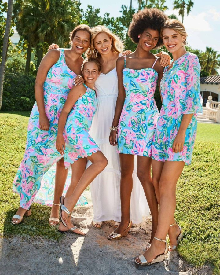 Wedding party dresses from Lilly Pulitzer
