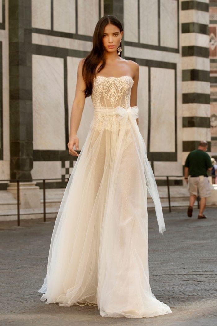 Strapless lace designer wedding dress 2020