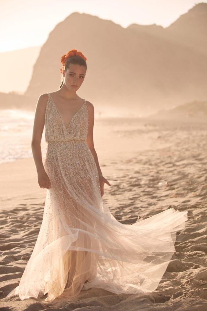Beaded sequin wedding dress Spring 2020