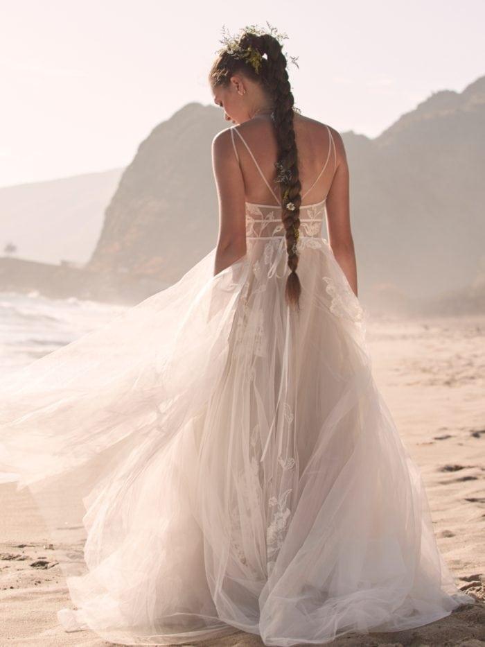 Boho beachy Willbowby wedding dress