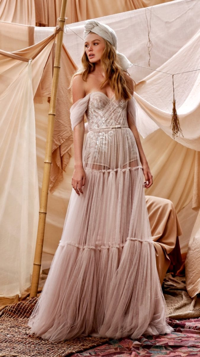 Gigi Muse by Berta Tiered Boho Wedding Gown