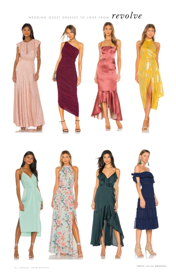 dresses to wear to weddings from revolve