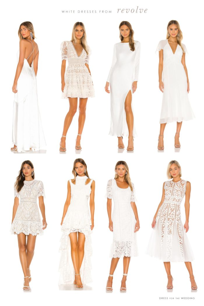 white dresses for weddings from revolve