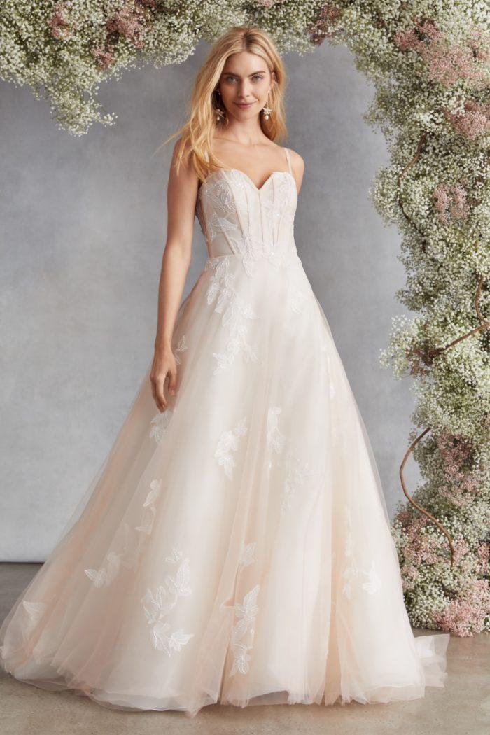 Blush wedding dress Bella